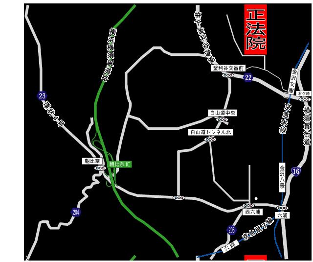 正法院アクセス地図